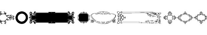 Ornamental Frames I Font LOWERCASE