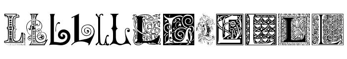 Ornamental Initials L Font UPPERCASE