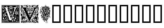 Ornamental Initials V Font UPPERCASE