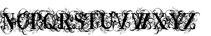 Ornamental Versals Black Font UPPERCASE