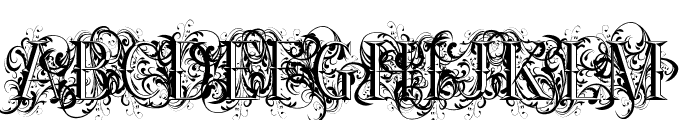 Ornamental Versals Font UPPERCASE