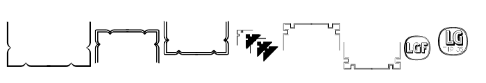 Ornamentos Orlas y Vinetas LGt Regular Font LOWERCASE