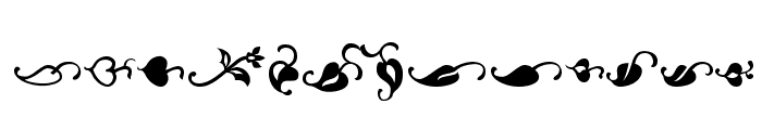 OrnementsADF Font LOWERCASE