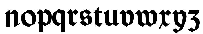 Orotund Heavy Font LOWERCASE