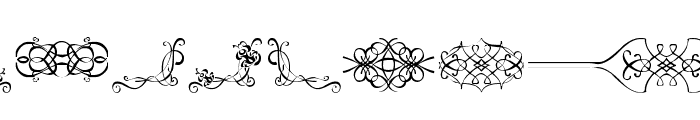 ornaments labels and frames Font UPPERCASE