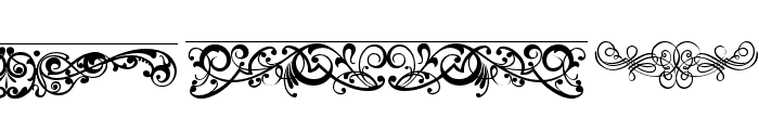 ornaments labels and frames Font LOWERCASE