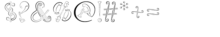 Orchestra BT Regular Font OTHER CHARS