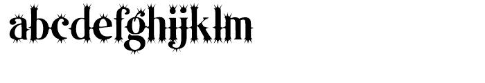 Organically Odd Font LOWERCASE