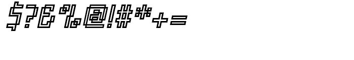 Orgasmia Ninety Outline Italic Font OTHER CHARS