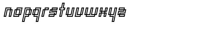 Orgasmia Ninety Outline Italic Font LOWERCASE