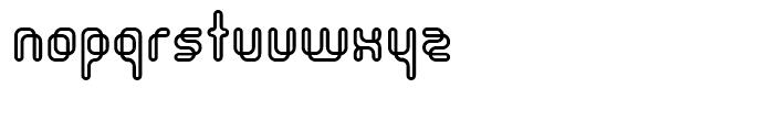 Orgasmia Outline Font LOWERCASE