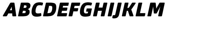 Orgon Black Italic Font UPPERCASE