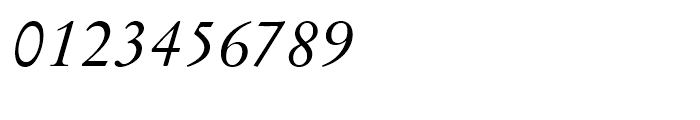 Original Garamond Italic Font OTHER CHARS