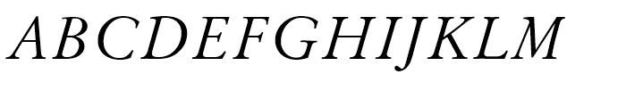 Original Garamond Italic Font UPPERCASE