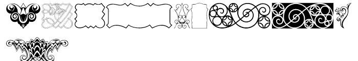 Ornamental Deco 2D Cameo Font OTHER CHARS