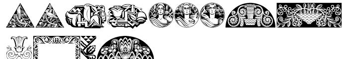 Ornamental Deco 2D Cameo Font LOWERCASE