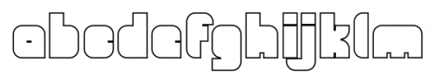 OrangeRoyale Closed Outline Font LOWERCASE
