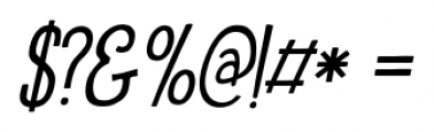 Oranjerie Italic Font OTHER CHARS