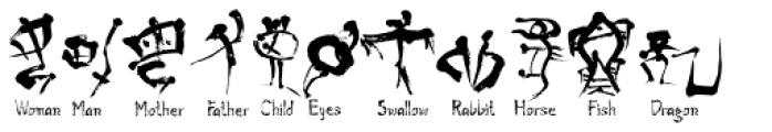 Oracle Bone Font UPPERCASE