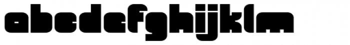 OrangeRoyale Closed Extended Font LOWERCASE