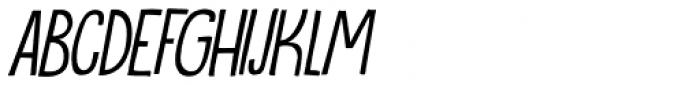 Oranjerie Italic Font LOWERCASE