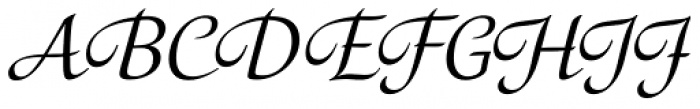 Orbi Calligraphic Three Font UPPERCASE