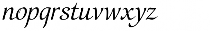 Orbi Calligraphic Three Font LOWERCASE