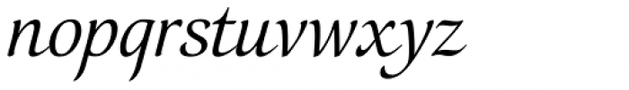 Orbi Calligraphic Two Font LOWERCASE