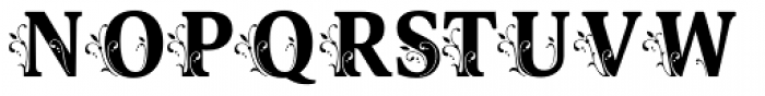 Orbi Initials Three Font LOWERCASE