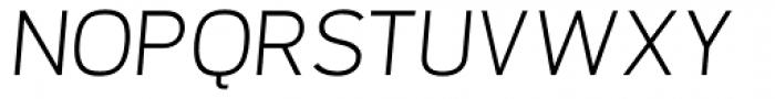 Orcin Sans Light Italic Font UPPERCASE