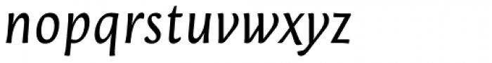 Orenga Medium Italic Font LOWERCASE