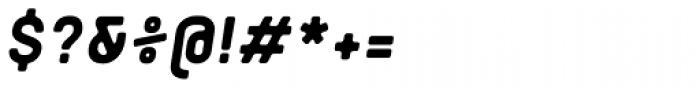 Orev Edge Extra Bold Italic Font OTHER CHARS