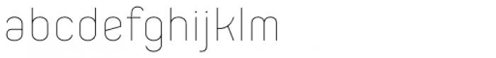 Orev ExtraLight Font LOWERCASE