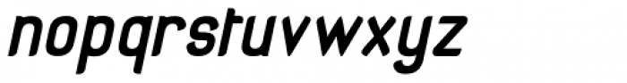 Organic Space Bold Italic Font LOWERCASE