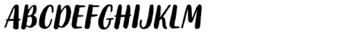 Organika Sans Italic Font LOWERCASE