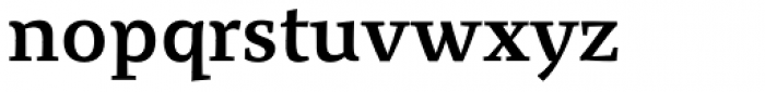 Organon Serif DemiBold Font LOWERCASE