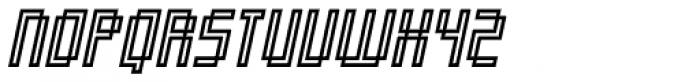 Orgasmia Ninety Outline Italic Font UPPERCASE