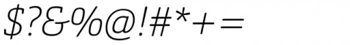 Orgon Slab Thin Italic Font OTHER CHARS