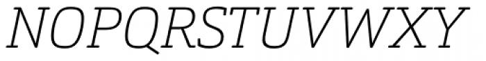 Orgon Slab Thin Italic Font UPPERCASE