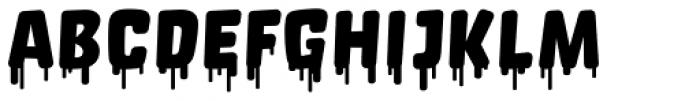 Orgovan Fat Cap Font UPPERCASE