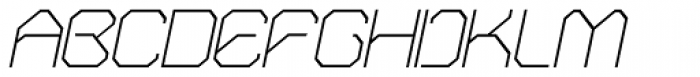 OricNeo Thin Italic Font UPPERCASE