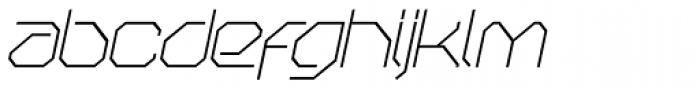 OricNeo Thin Italic Font LOWERCASE
