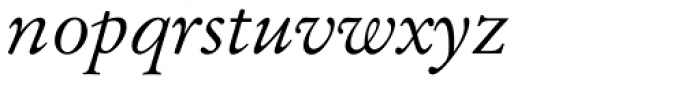 Original Garamond Italic Font LOWERCASE
