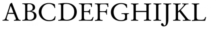 Original Garamond Font UPPERCASE
