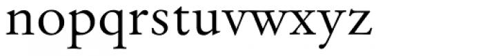 Original Garamond Font LOWERCASE