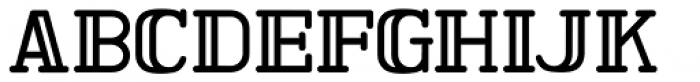 Ormond Inline JNL Font UPPERCASE