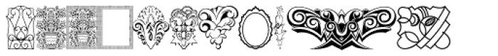 Ornamental Deco 2D Cameo Font UPPERCASE