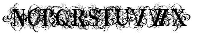 Ornamental Versals Black Font UPPERCASE