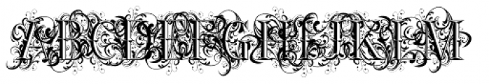 Ornamental Versals Font UPPERCASE