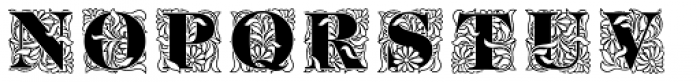 Ornate Initials Style One Font UPPERCASE